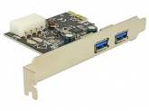 Adaptor Delock PCI Express x1 - 2 x USB 3.0 Type A extern Female