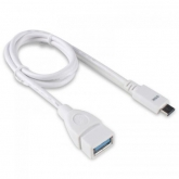 Cablu de date SSK UC-CA980, USB 3.0 Female -  USB-C Male, 0.8m, White