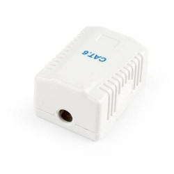 Adaptor de retea Gembird, 1x RJ-45, FTP, CAT6, White