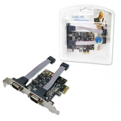 Adaptor Logilink PC0031 PCI-Express - Serial, 2 porturi