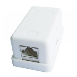 Adaptor retea Gembird, RJ45, FTP, CAT6, White