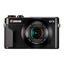 Aparat foto compact Canon PowerShot G7 X Mark II, 20.1MP, Black + Husa DCC-1880 + Memory card SD 8GB