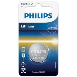 Baterie Philips Lithium, 1x 3V/CR2430, Blister
