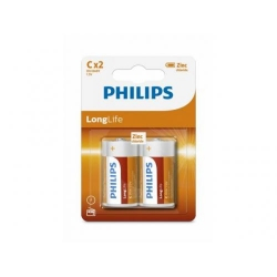 Baterie Philips Longlife, 2x C/R14, Blister