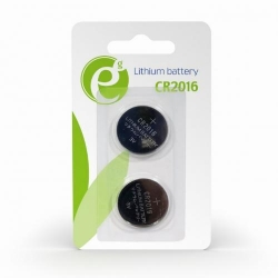 Baterii Gembird Button Cell CR2016, 2x 3V, Blister