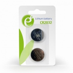 Baterii Gembird Button Cell CR2032, 2x 3V, Blister