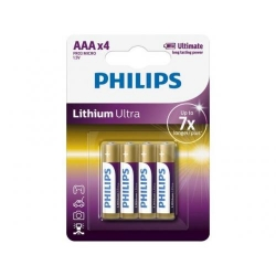 Baterii Philips Lithium Ultra, 4x AAA, Blister