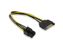 CABLU SATA 15 PIN TO 6 PIN PCI EXPRESS DELOCK 8292