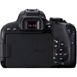 Camera Foto Canon DSLR 800D, 24.2MP, Black + Obiectiv EF-S 18-55 IS