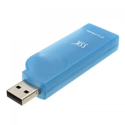 Card reader SSK SCRS028, CF, USB 2.0, Blue