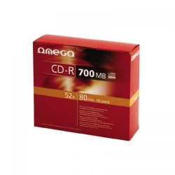 CD-R Omega Printable 52x, 700MB, 10buc, Slim Case
