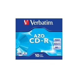 CD-R Verbatim 52x, 700MB, 10buc, Jewel case