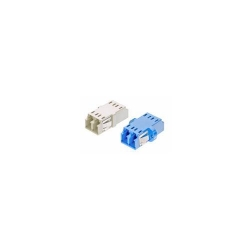 Coupler AMP 1-6457567-6 LC Duplex MM OM3 XG Plastic/Metal, Clip/Screw, Aqua