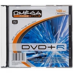 DVD+R Omega Freestyle 16x, 4.7GB, 1buc, Slim case