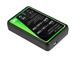 Green Cell Battery Charger DE-A83, DE-A84 for Panasonic DMW-MBM9, Lumix DMC-FZ70, DMC-FZ60, DMC-FZ100, DMC-FZ40, DMC-FZ47