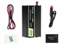Green Cell Car Power Inverter 12V to 230V, 300W/600W Pure sine wave