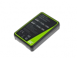 Green Cell Charger BCH-1 for Olympus BLH-1, OM-D E-M1 Mark II, Grip HLD-9