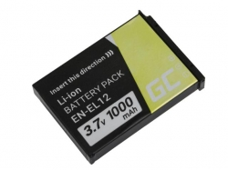 Green Cell Digital Camera Battery for Nikon Coolpix AW100 AW110 AW120 S9500 S9300 S9200 S9100 S8200 S8100 S6300 3.7V 1000mAh