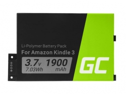 Green Cell e-Book Battery 170-1032-01 Amazon Kindle 3 Keyboard 2010