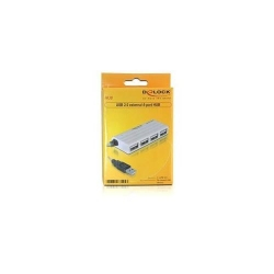 Hub USB Delock external, 4x USB 2.0, White