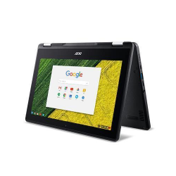 Laptop 2-in-1 Acer Chromebook Spin 11 R751T, Intel Celeron Dual Core N3350, 11.6inch Touch, RAM 4GB, eMMC 32GB, Intel HD Graphics 500, Chrome OS, Black