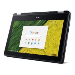 Laptop 2-in-1 Acer Chromebook Spin 11 R751TN, Intel Celeron Quad Core N3450, 11.6inch Touch, RAM 4GB, eMMC 32GB, Intel HD Graphics 500, Chrome OS, Black