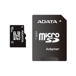 Memory Card A-Data Micro-SDHC, 16GB, cu adaptor SD