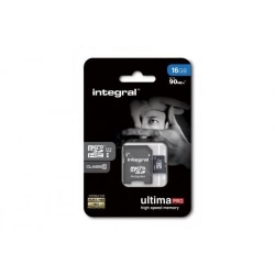 Memory Card Integral Ultima Pro MicroSDHC, 16GB, Clasa 10 + Adaptor SD