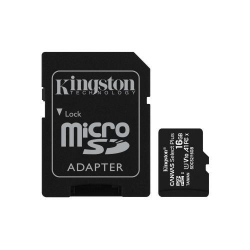 Memory Card Kingston Canvas Select Plus micro SDHC 16GB, Clasa 10 + Adaptor SD