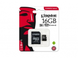 Memory Card Kingston microSDHC Canvas Select 16GB, Class 10 + Adaptor SD