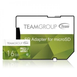 Memory card TeamGroup Micro SDHC 16GB UHS-I + Adaptor, Green