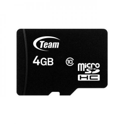 Memory card TeamGroup Micro SDHC 4GB Class 10 + Adapter