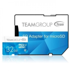 Memory card TeamGroup MicroSDHC 32GB UHS-I + Adapter, Blue