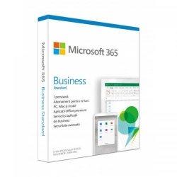 Microsoft 365 Business Standard, Engleza, Medialess Retail, 1Year/1User
