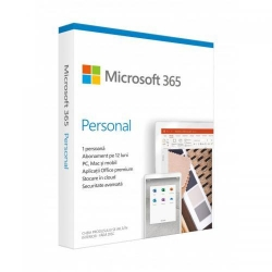 Microsoft 365 Personal Engleza 32-bit/x64, Medialess Retail, 1Year/1User