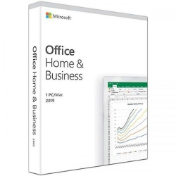 Microsoft Office Home and Business 2019 All Lng EuroZone Medialess, 1User