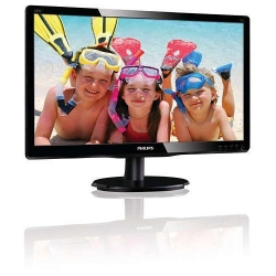 Monitor LED Philips 200V4LAB2/00, 19.5inch, 1600x900, 5ms, Black