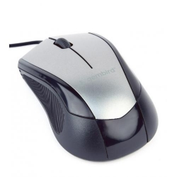Mouse Optic Gembird MUS-3B-02-BG, USB, Black-Grey