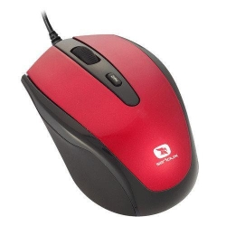 Mouse Optic Serioux Pastel 3300, USB, red