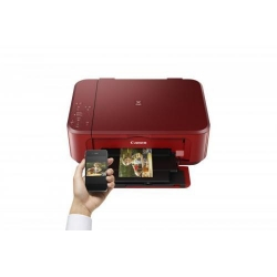 Multifunctional Inkjet Color Canon Pixma MG3650 Red Wireless