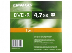 DVD-R Omega 16x, 4.7GB, 10buc, Slim case