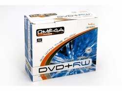 DVD+RW Omega 4x, 4.7GB, 10buc, Slim case