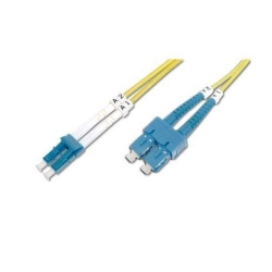 Patch Cord Optic Nexans N123.5CLA1, Duplex LC-SC, 1m, Aqua