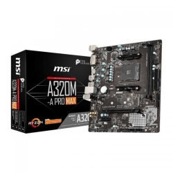 Placa de baza MSI A320M-A PRO MAX, AMD A320, Socket AM4, mATX
