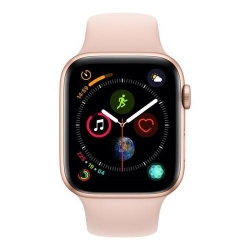 Smartwatch Apple Series 4 GPS, Aluminium 44mm, curea silicon, Gold-Pink Sand