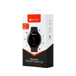 SmartWatch Canyon CNS-SW75BR, 1.22inch, Curea Silicon, Black