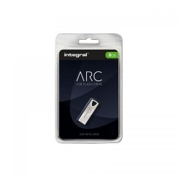 Stick memorie Integral ARC 8GB, USB 2.0, Silver