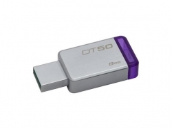 Stick Memorie Kingston DataTraveler 50 8GB, USB3.0, Metal/Purple