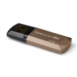 Stick memorie TeamGroup C155 16GB, USB 3.0, Gold