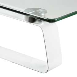 Suport monitor LogiLink Glass tabletop, White